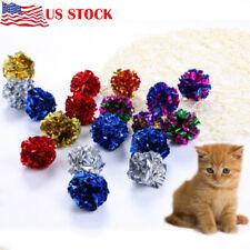 12Pcs New Bulk Buy Cat Kitten Toy Balls Crinkle Cat Kitten Sound Play Toy Safety
