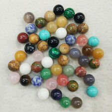 Assorted natural stone round ball shape no hole 10mm beads wholesale 50pcs/lot