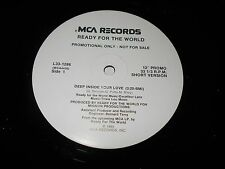 """Ready For The World - Deep Inside Your Love 12"""" Single  Funk Soul Promo WLP NM"""