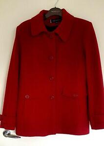 Anne Klein Wool Winter  Red Wine Ladies Jacket Coat XL