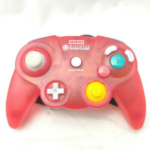 Hori Gamepad Controller for Nintendo Gamecube - Transparent Red Tested & Working