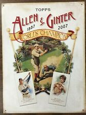 2007 Topps Allen & Ginter Metal Dealer Promo Advertising Sign Bruce Lee A-Rod