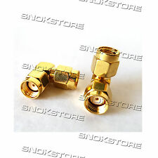 ADATTATORE ADAPTER CONNETTORE SMA MALE TO SMA MALE RIGHT ANGLE RF COAXIAL
