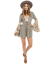 NWT FREE PEOPLE Once Upon A Summertime Romper in Blue $148 - L