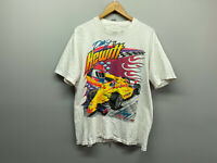 "Vintage 90s 1998 Jack ""Dew It"" Hewitt Indy car racing Double Sided T Shirt Large"