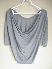 NWT Chaser LA Chaser Collection Heather Grey Gray COWL BACK Top M Tee