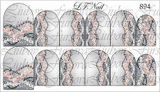 Wasser Wraps Transfer Sticker Nagel Tattoo Aufkleber Sleider von Fursova 894