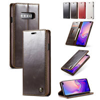 Leather Wallet Phone Case Card Slot Cover Flip Stand for Samsung S10 9 8 Note8 9
