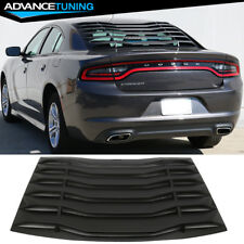 Fits 11-18 Dodge Charger Ikon Style Rear Window Louver Cover Vent Black ABS