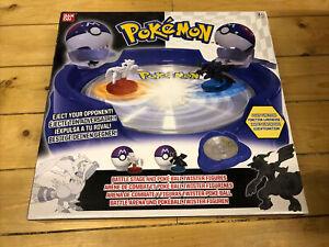 Rare Pokemon Battle Stage & Poke Ball Twister Figures Black and White Bandai