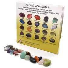 20pc Display Crystal Gemstone Reiki Polished Healing Chakra Stone Collection Set