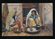 North Frica ethnic Preparation of Couscous Used 1921 PPC