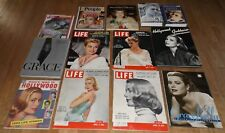 GRACE KELLY lot - 6 books 10 magazines including 4 Life magazines A in pictures