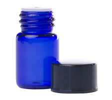 2ml (5/8 Dram) Cobalt Blue Glass Essential Oil Bottles (50 Pack)