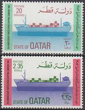 Qatar 1982 ** Mi.838/39 Container Schiffe Ships Bateaux