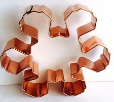Copper Snowflake Vintage Cookie Cutter Large Size 5.5 Inch Heavy Baking