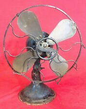 "Antique 12"" Westinghouse Oscillating Electric Fan - Brass Blades FOR RESTORE"