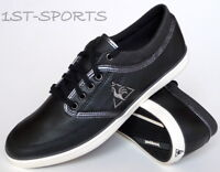 Mens Le Coq Sportif Trainers Shoes Denfert UK 6 to 10 Black Leather UK 6 to 10