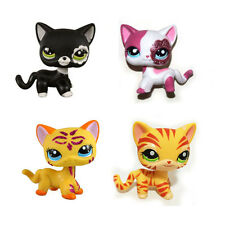 Littlest Pet Shop Orange Striped & Sparkle Pink & Black & Sparkle Orange Cat