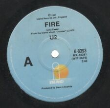 "U2   Rare 1981 Australian Only 7"" OOP Festival Island Label Rock Single ""Fire"""