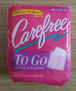 Carefree To Go 22 Panty Shield Vintage 90s female women old nos girl prop young