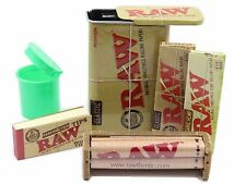New RAW Slide Top Tin + Rolling Machine + Organic Hemp and Classic Papers + Tips