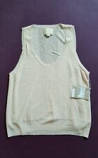 Girl-Band of Outsiders Light Pink Sleeveless  Knit Front Lined Jumper/Sweater