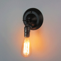 Vintage Industrial Metal Wall Lamp Light DIY Lighting Home Cafe Decor Fixture
