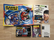 Mario's Time Machine 1993 SNES Super NES Nintendo Box Poster and Paper Work ONLY
