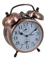 Atlanta Aufzieh Glocken Wecker Kupfer mit Metallgehäuse Mechanisch Reise 1058/18