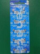 Batteries, 10 Pc Renata 319 Sr527Sw