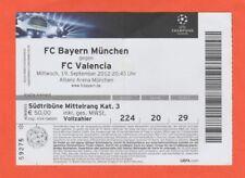 Orig.Ticket  Champions League  2012/13  BAYERN MÜNCHEN - FC VALENCIA  !!  SELTEN