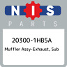 20300-1HB5A Nissan Muffler assy-exhaust, sub 203001HB5A, New Genuine OEM Part