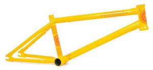 "SUBROSA OM STREET FRAME 20.5""tt BMX BIKE BICYCLE AUTHORIZED DEALER YELLOW NEW"
