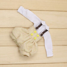 "Takara 12"" Blythe Azone Doll Outfits yellow Bib & white shirt new hot sale 2018"