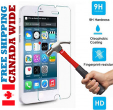 CANADA TEMPERED GLASS PROTECTION - iPhone 5 5S SE 5C 6 6S 6+ 6S+ 7 PLUS 8 X