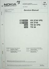 NOKIA - VR 3749 TR 94 VPS - VR 155-1 - Schaltbilder - Service Manual - B2514