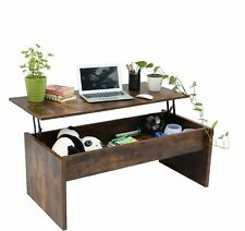 Top Lift Coffee Table w/ Hidden Compartment Storage Shelf Living Room Furniture