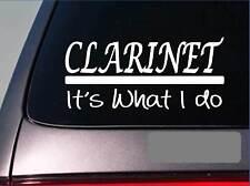 Clarinet sticker decal *E313* horn brass trumpet flute band high school bass