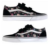 New Vans Old Skool V Butterfly Floral Black Strap Women's Sizes 7, 7.5, 8, 8.5