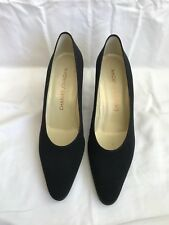 Charles Jourdan Women's Vintage (New) Black Cloth High Heel Size 8