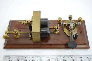 W U Tel Co. Western Electric KOB telegraph set with Double rod lever key