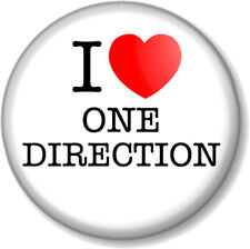 "I Love / Heart One Direction 25mm 1"" Pin Button Badge Harry Styles Boy Band Fans"