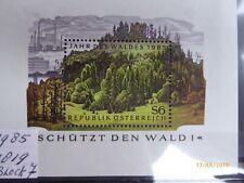 Osterreich Austria 1985 Block 9 mint