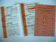 publicité prospectus produits entretien autos tarif 1928