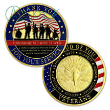 US Military Challenge Coin Soldier Squad Veteran Thanksgiving Gift Coin Badge