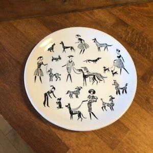 Vintage Alfred Meakin Tea Plate – Ladies & Dogs / Poodles – Kitsch! –