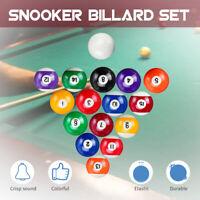 16Pcs Billiard Snooker Balls Kits Resin 52.5mm(2.1'') / 57mm(2.24'') Crisp Sound
