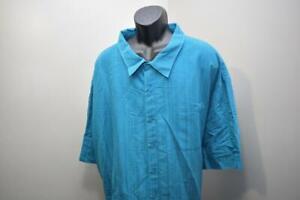 Island Passport Blue Relaxed Hawaiian Shirt Mens Size 6XL