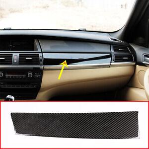 RHD Carbon Fiber For BMW X5 E70 X6 E71 2008-2013 Dashboard Panel Cover Sticker